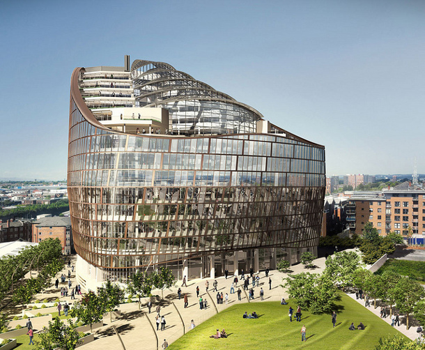 The Co-operative Group's new headquarters are being built in Manchester, England.