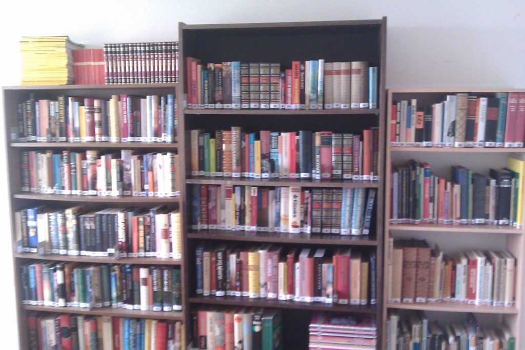 The collection of the library I was asked to open