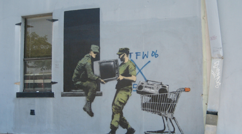 In London, Vayable guide Kelly M. offers a tour of Banksy's street art