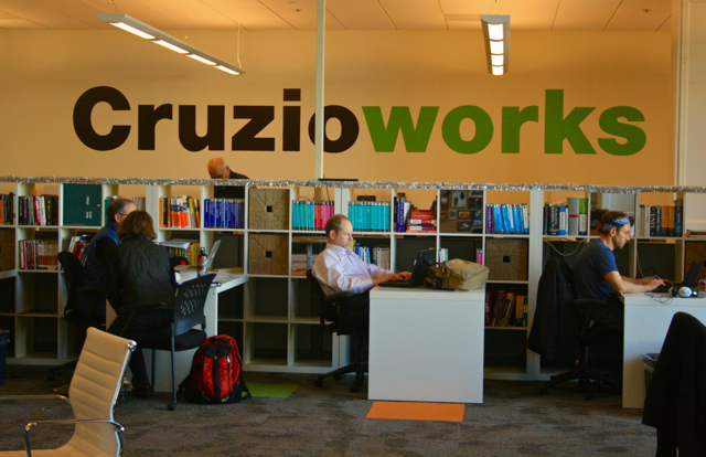 Just another day of coworking at Cruzioworks in Santa Cruz, California.