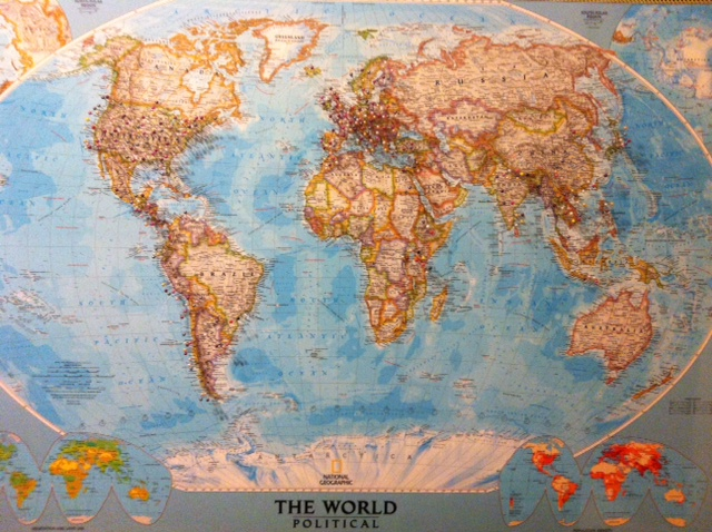 My travel world map.
