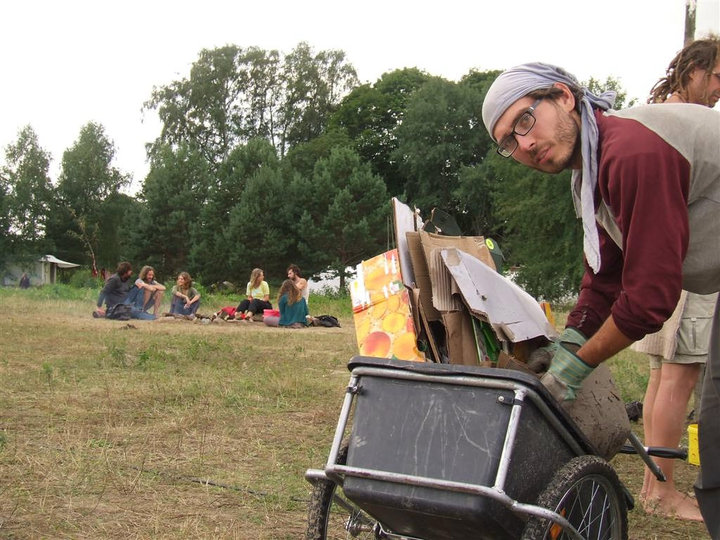 elf Pavlik at the Ecotopia gathering in Germany in 2010. His project was to help create zero waste. Photo by Wam Kat.