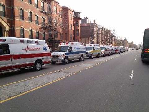 Ambulances arrived from all over the state.