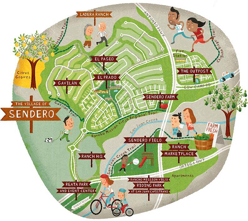 Sendero residentscan choose from a mix of house styles and neighborhoods that wrap around paths, parks, gardens and the Ranch House