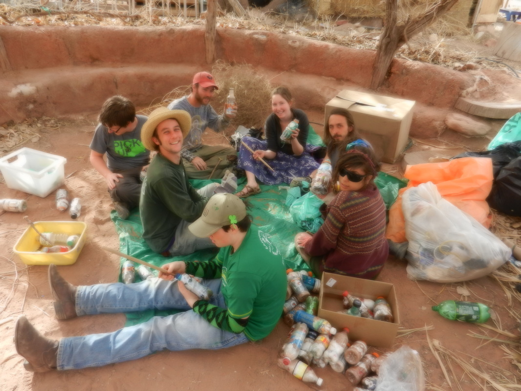 Bottle Brick Stuffing Party with Pick Up America in Moab, Utah