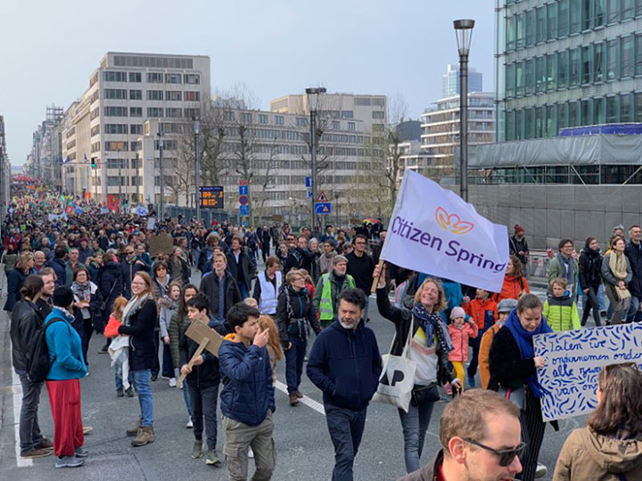 Social Enterprises | Citizen Spring joins climate change protests on the streets of Brussels.