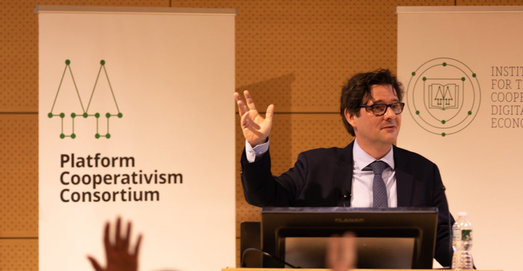 Trebor Scholz platform cooperativism | Image provided by ICDE/New School