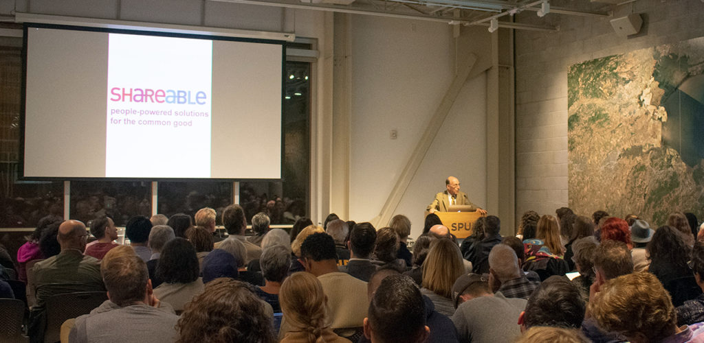 Author Richard Rothstein calls for new civil rights movement to address housing scarcity and injustice at Shareable event