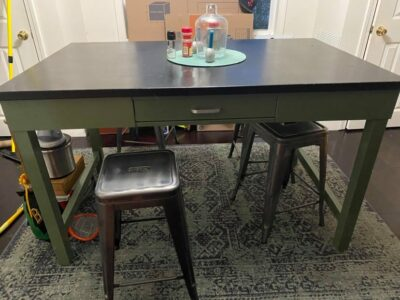 A slate table the author sold as part of her decluttering and downsizing. Photo: E. Carr
