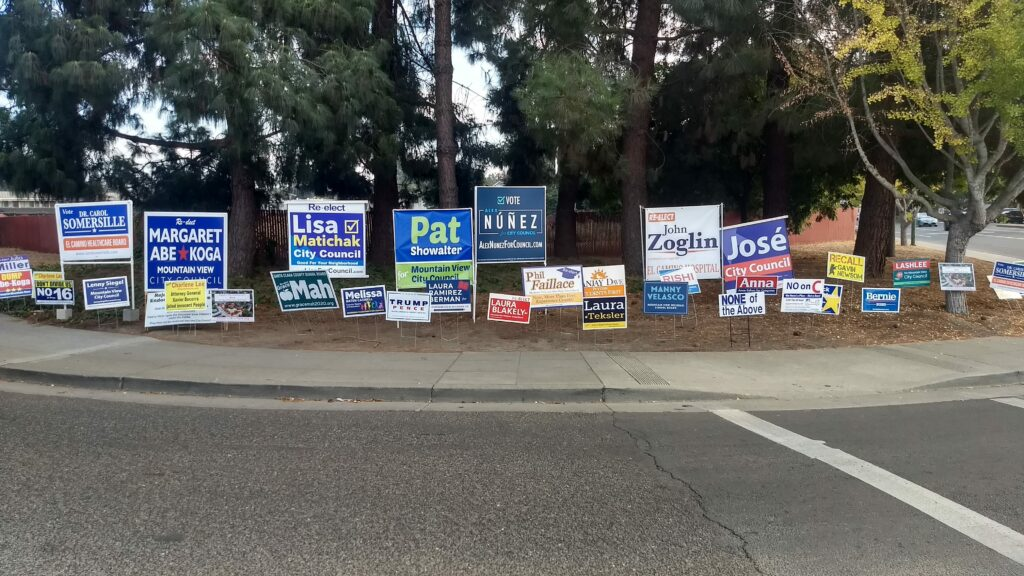 It seems local elections in Mountain View where I live are pretty heated, but nothing like the national elections!