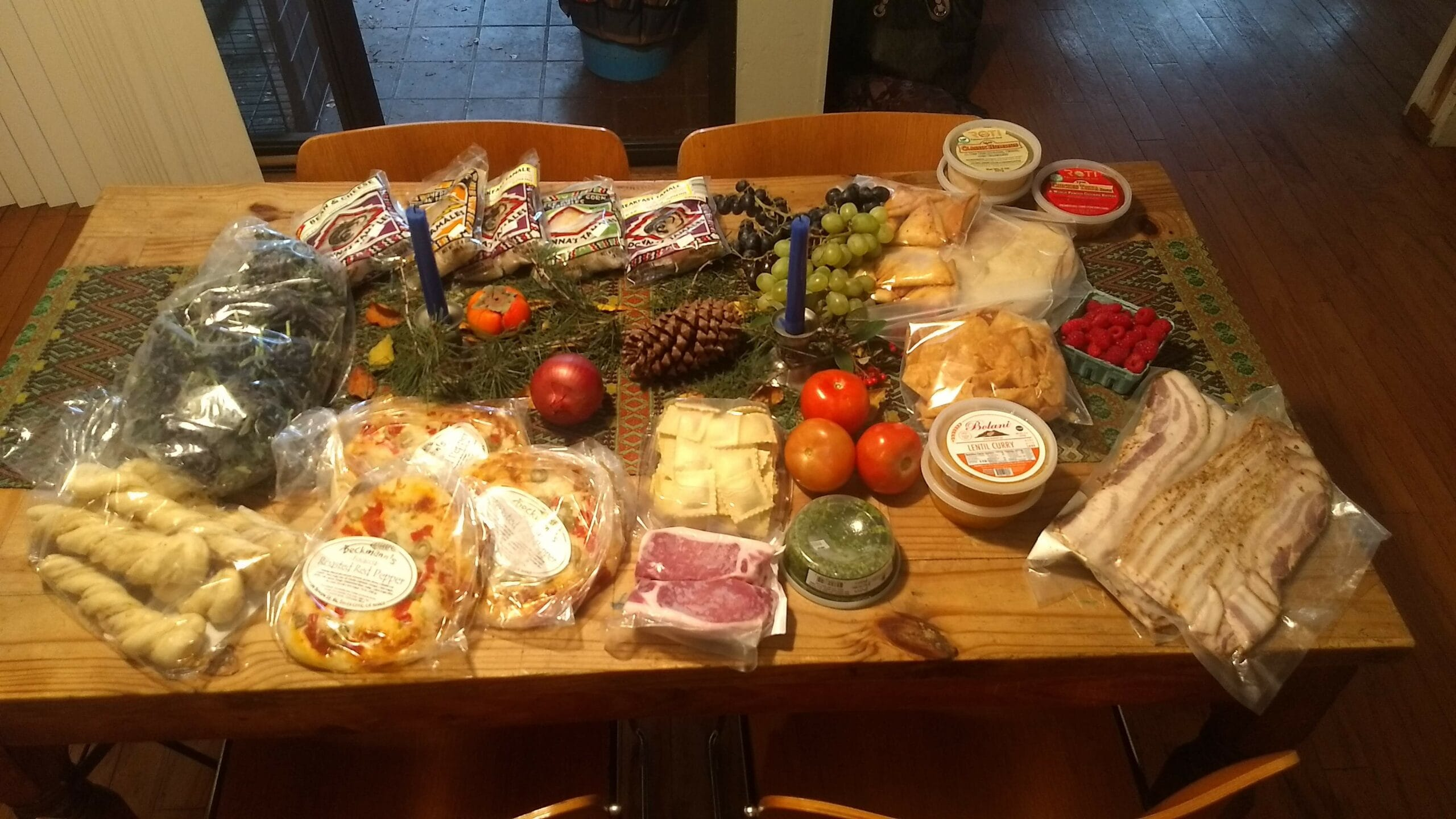 Our haul from Mountain View's fantastic farmers market. Credit: Neal Gorenflo.