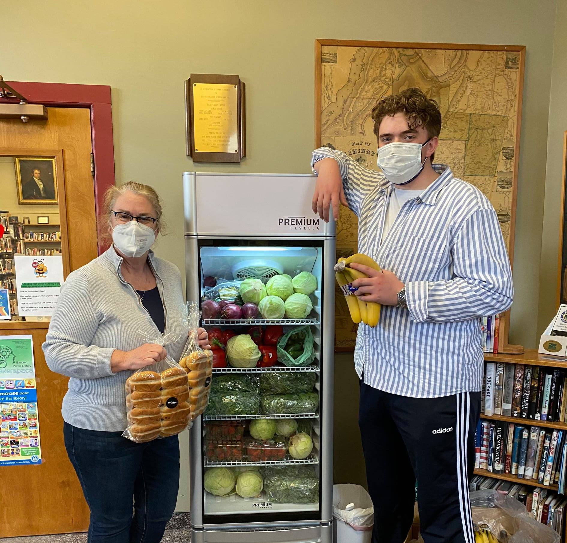 Library fridge as an example of public libraries food insecurity