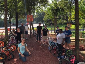 Bike Friendly Oak Cliff hosted a bike repair event at Tyler Station