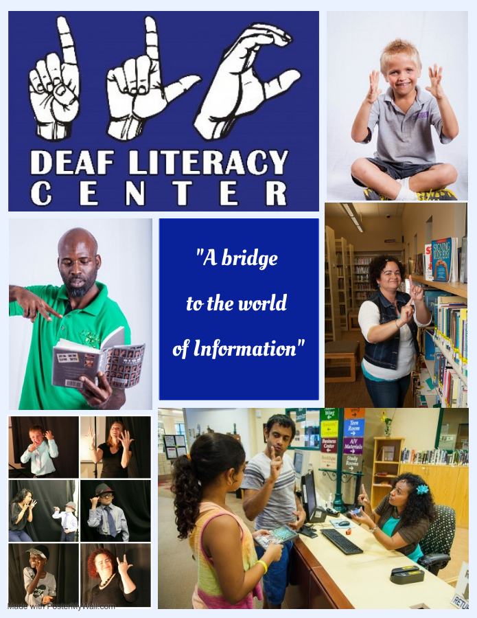 Cover photo for pamphlet detailing yearbook for Deaf Literacy Center